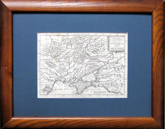 Украина и Крым. Старинная карта, 1632 г.