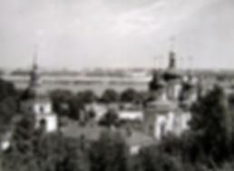 Выдубицкий монастырь и Березняки. Фотография, 1970-е гг.