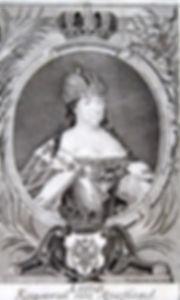 Императрица Анна Ивановна. Старинная гравюра. Германия. Середина XVIII в.
