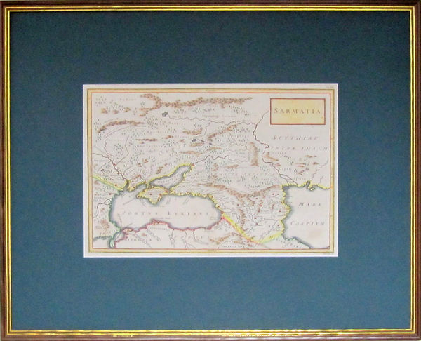 Сарматия. Старинная карта. XVII в.