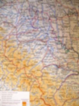 Станиславская область. Старинная карта. 1950-е гг.