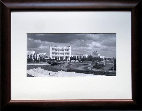 Вид на Русановку, Киев. Оригинальная фотография, 1970-е гг.