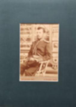 Император Николай II. Фотография, начало XX века. От Братьев Юнг. С.-Петербург и Париж.Размер изображения 11х16см, размер в раме 20х30 см. В деревянной раме, покрыта безбликовым стеклом.