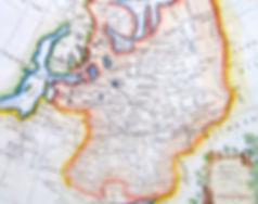 Россия или Московия в Европе. Старинная карта, середина XVIII в.