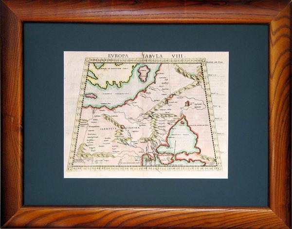 Сарматия Европейская. Старинная карта. XVII в.