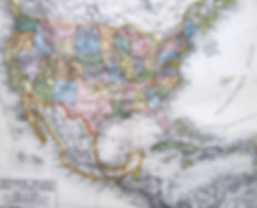 США, Мексика и Центральная Америка. Карта, конец XIX в.
