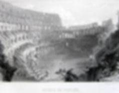 Руины Колизея в Риме. Гравюра, начало XIX в.