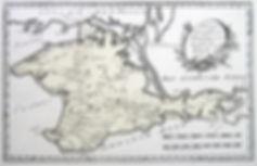 Специальная карта королевства Таврия или полуострова Крым. Старинная карта, гравировкана меди. Ручнаяконтурнаяраскраска эпохи. Австрия. Вторая половинаXVIIIв.