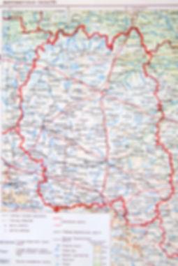 Житомирская область. Старинная карта. 1952 г.