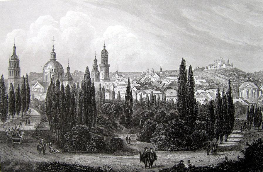 Львов, Доминиканский собор. Гравюра, середина XIX в.