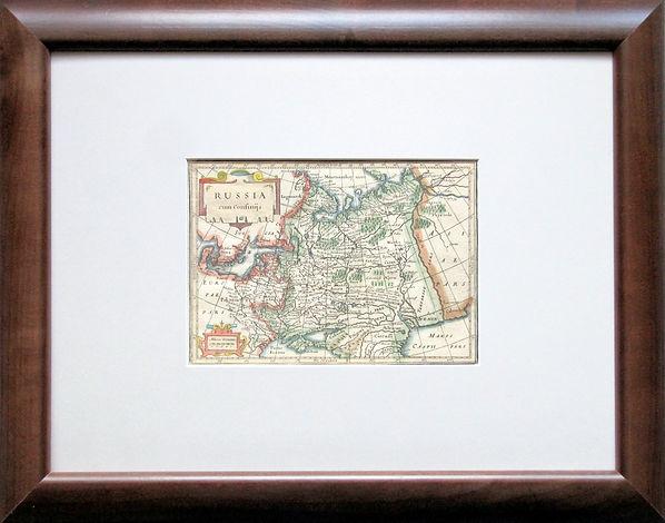Россия в своих границах.Старинная карта. Начало XVIII в.