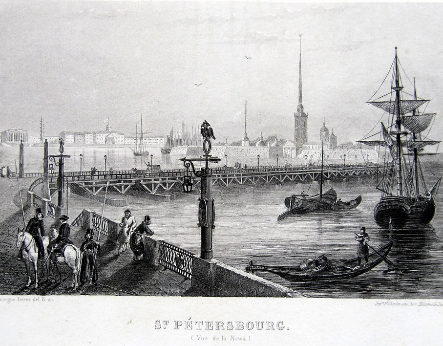 Санкт-Петербург. Гравюра, середина XIX в.
