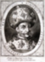 Крымский хан Газы II Герай. Гравюра на меди. Около 1600 г.