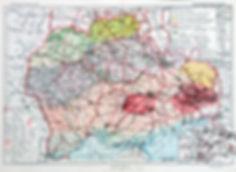 Украинская ССР. Экономическая карта. Конец 1920-х гг. Оформлена в паспарту и деревянную рамку, покрыта безбликовым стеклом. Размер в раме 40х50 см.Отличная сохранность.