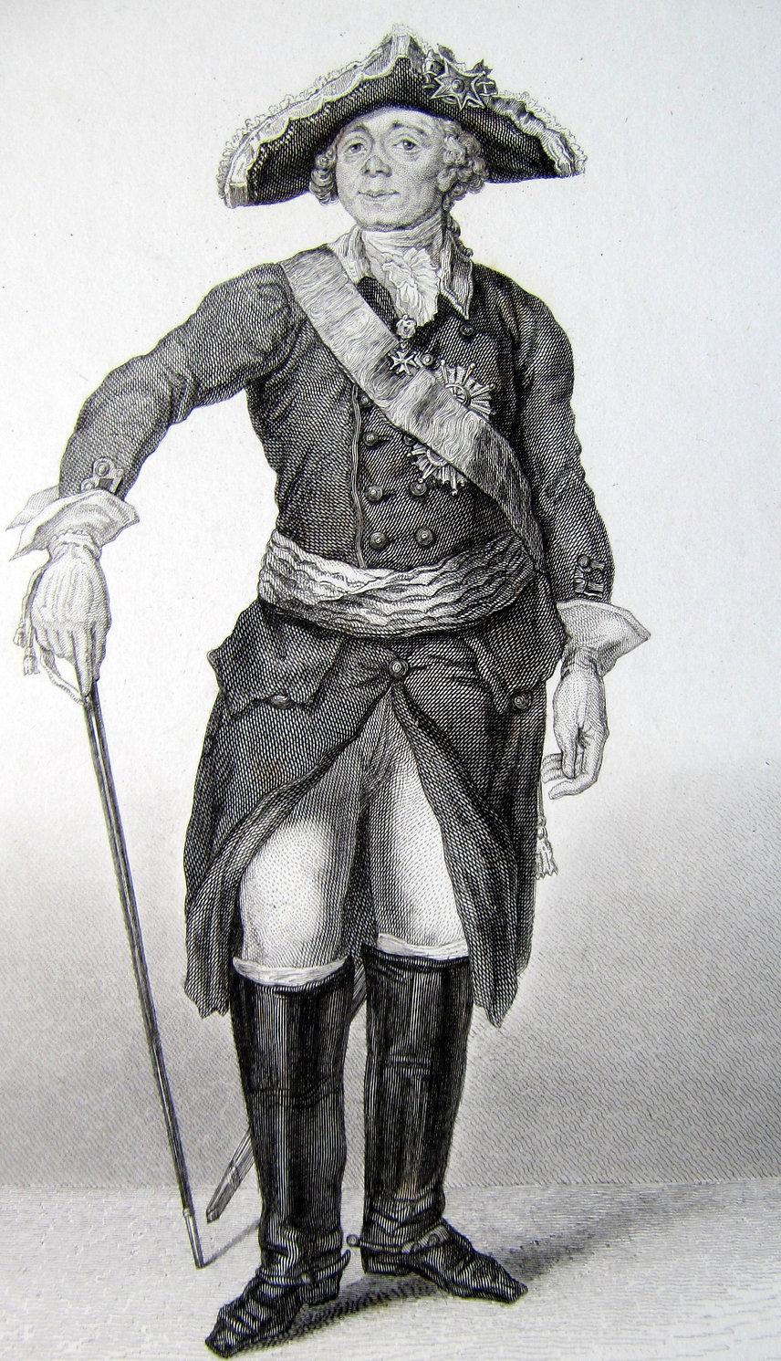 Павел I. Гравюра, начало XIX в.