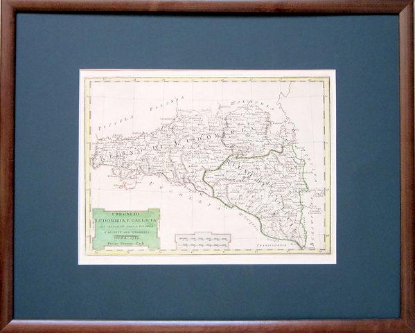 КоролевствоЛодомерии и Галиции. Карта, 1789 г.