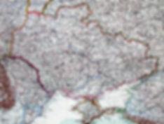 Украина. Старинная карта, начало 1920-х гг.