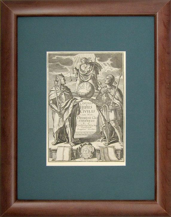 Корпус Юрис Цивилис. Гравюра, XVII в.
