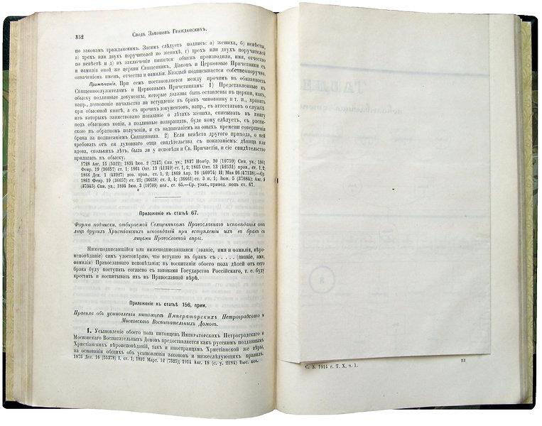 Законы гражданские. 1914 г.