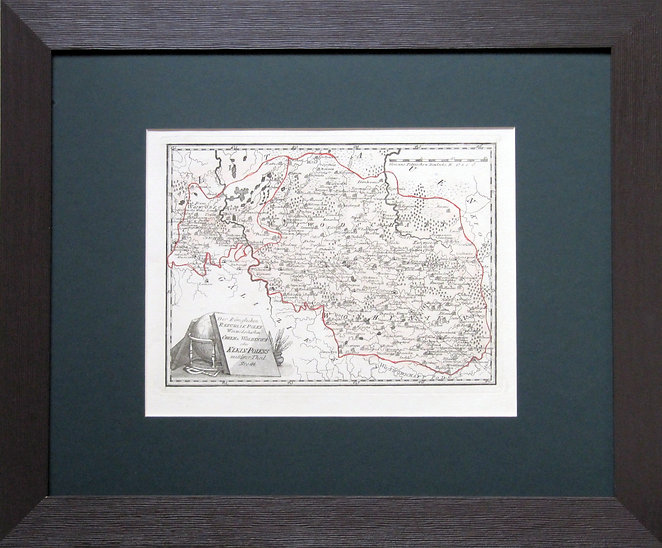 Волынь и западная Украина. Старинная карта, XVIII в.