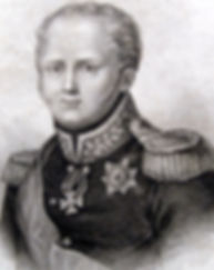 Александр I. Старинная гравюра на меди. Англия. 1814 г.