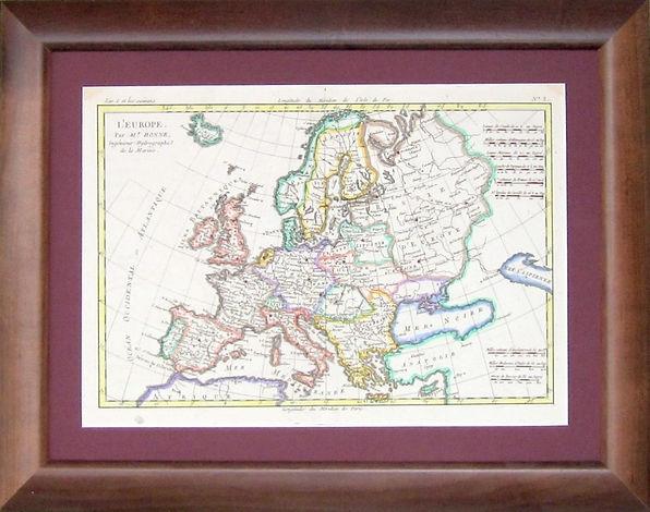 Европа. Карта, XVIII в.