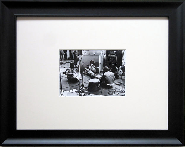 """""""Роллинг Стоунз"""" при записи альбома """"Банкет нищих"""". Оригинальная фотография, 1968 г."""