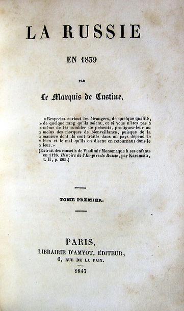 Кюстин А., де. Россия в 1839 году. 1843 г.