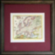 Европа. Старинная карта. Начало XVIII в.
