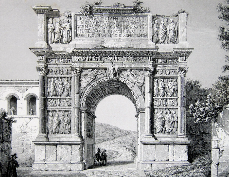 Арка Траяна в Риме. Гравюра, начало XIX в.