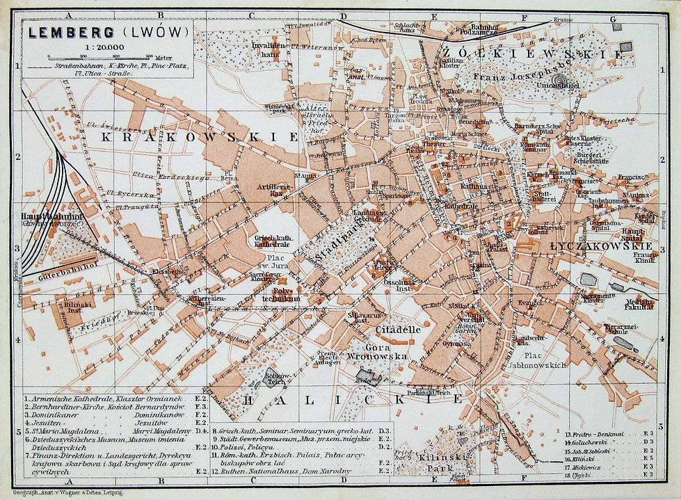 Львов. Старинный план. XIX век. exlibris-knigi.com