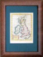 Великобритания. Карта, XVIII в.
