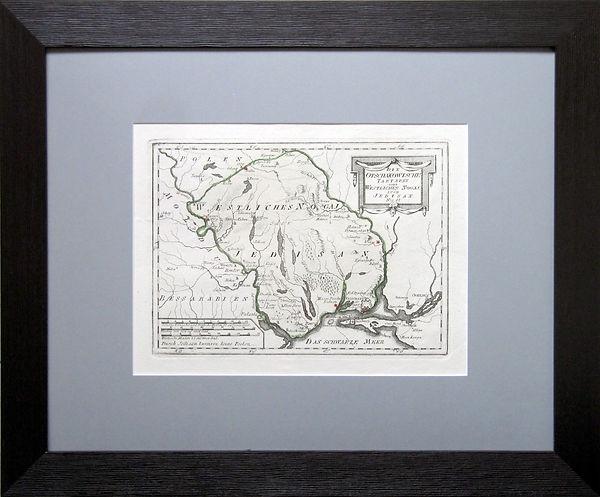 Юго-запад Украины (Одесская, Николаевская области). Карта, XVIII в.