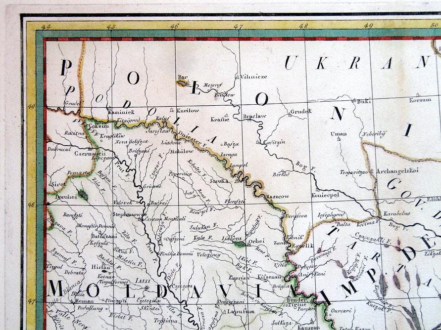 Южная Украина. Старинная карта, 1788 г.