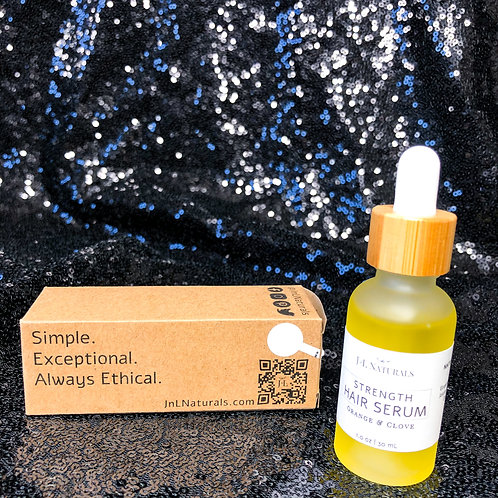 J&L Naturals Strength Hair Serum - orange & clove