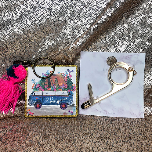 Natural Life Key Chain & No Touch Key