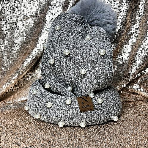 Nollia Winter Pearl Hat With Pom Pom