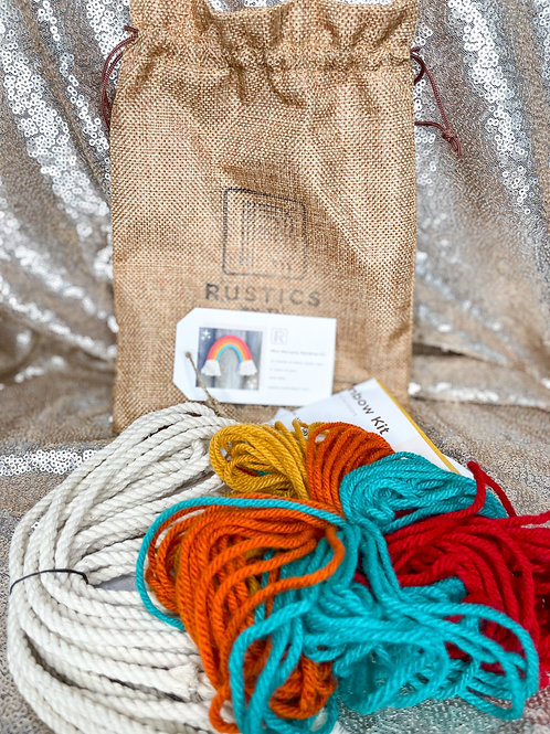 TL Rustic Mini Macrame Rainbow Craft Kit