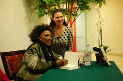 Meeting Jessye Norman on her book tour at the Walters Art Museum