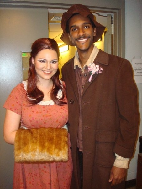 Terynka (Hillary LaBonte) and Harasta (Benjamin Moore) - Peabody Opera's The Adventure of Vixen Shar