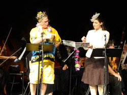King Paramount (Steven Stokes) and Princess Zara (Hillary LaBonte) - Victorian Lyric Opera Company's