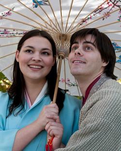 Yum-Yum (Hillary LaBonte) and Nanki-Poo (Joshua Rosenblum) - Photographed by Harvey Levine
