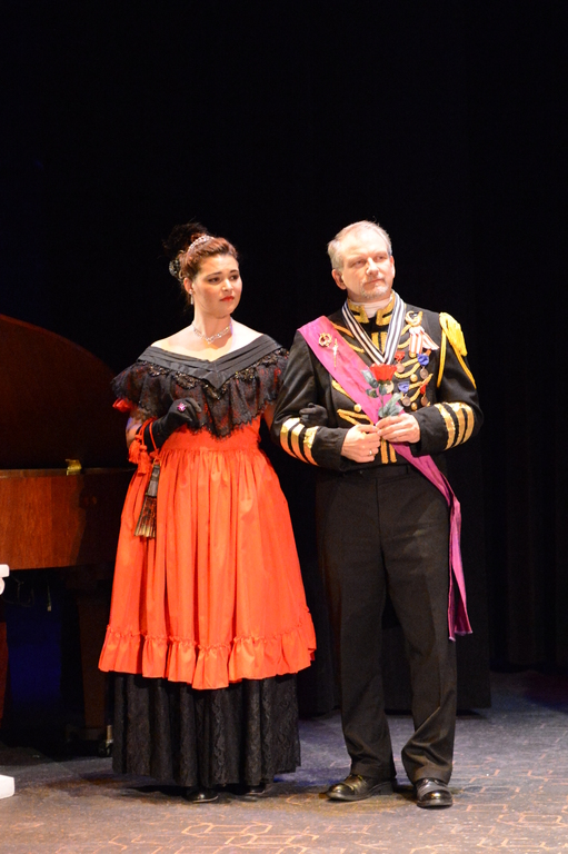 Olga (Hillary LaBonte) and General Kromov (Peter Seckinger) - Loudoun Lyric Opera's The Merry Widow