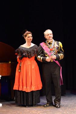 Olga (Hillary LaBonte) and General Kromov (Peter Seckinger) - Loudoun Lyric Opera's The Merry Widow