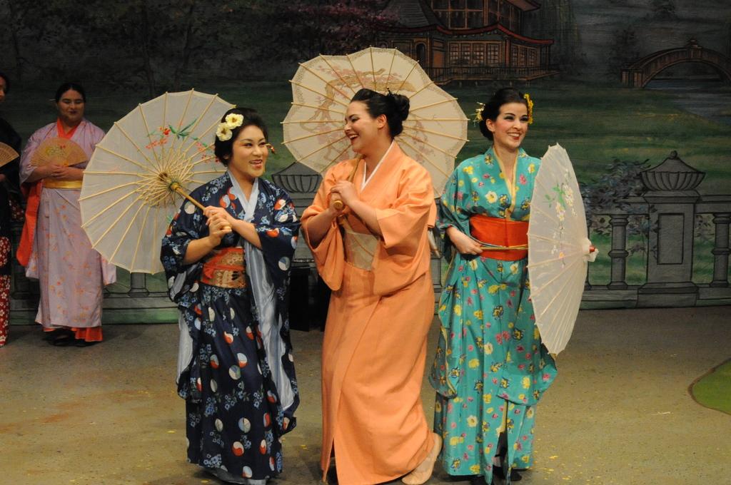 Pitti-Sing (Chrissy Vu), Yum-Yum (Hillary LaBonte), and Peep-Bo (Mariana Pino) - Loudoun Lyric Opera
