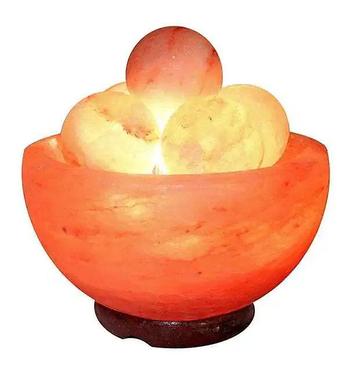 Himalayan Salt Bowl with Massage Stone Spheres
