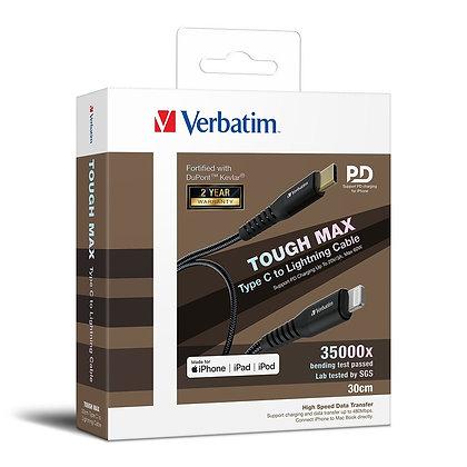 Verbatim Tough Max Type C to Lightning充電傳輸線