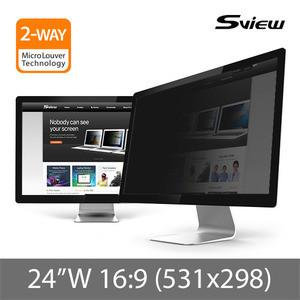 "S-View SPFAG2-24W9 24""(16:9) 抗藍光螢幕防窺片(531x298mm)"