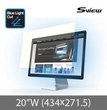 "S-View SBFAG-20W 20""(16:10) 抗藍光濾片(434x271.5mm)"