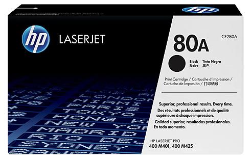 HP 80A 黑色原廠 LaserJet 碳粉盒 (CF280A)